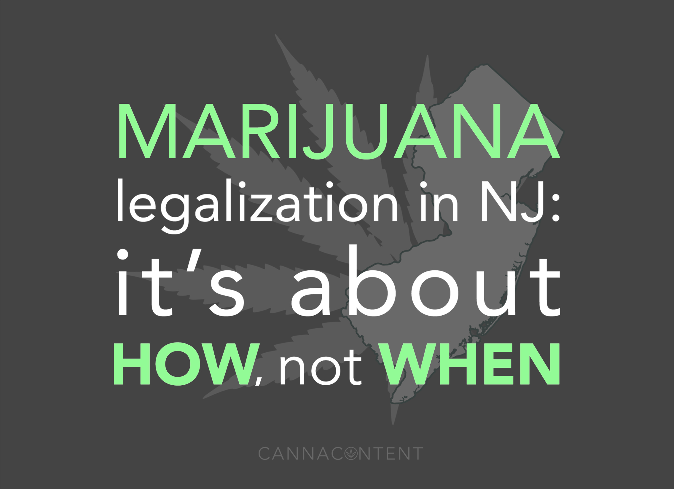 Legalizing cannabis in New Jersey: it's 'how,' not 'when'