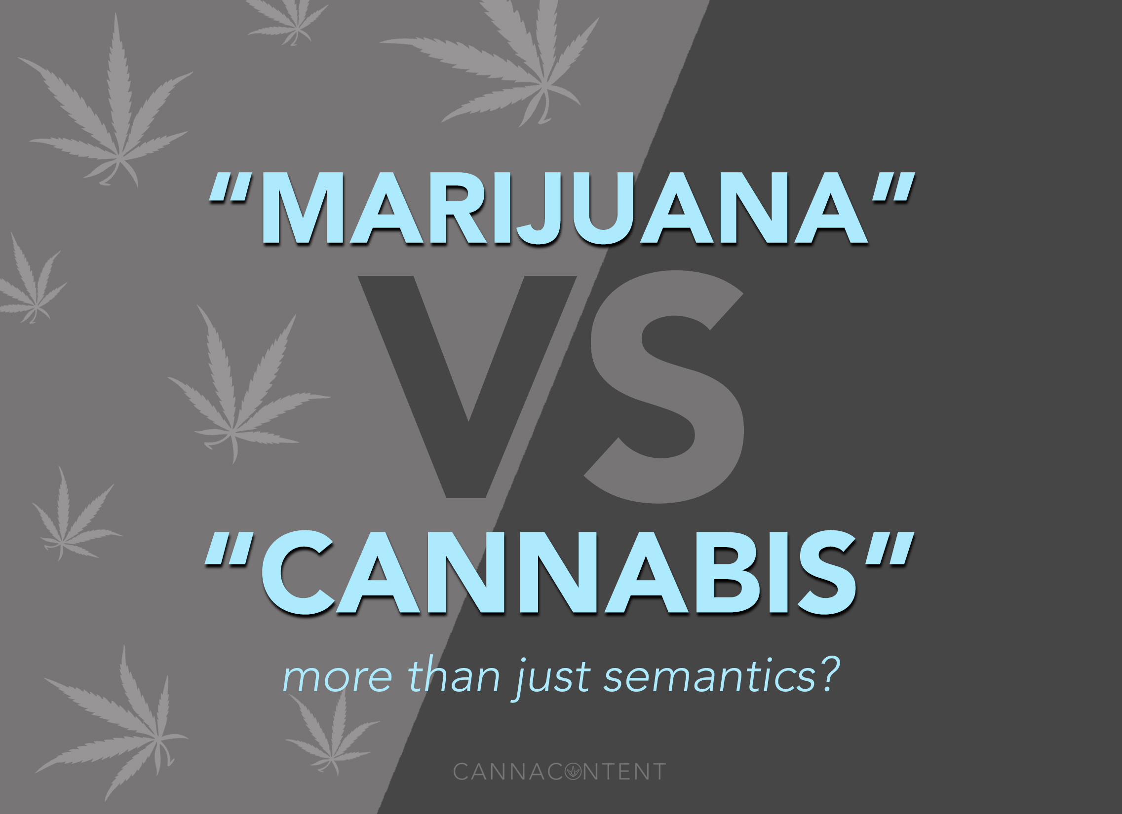 Why do we call it marijuana and not its proper name, cannabis?